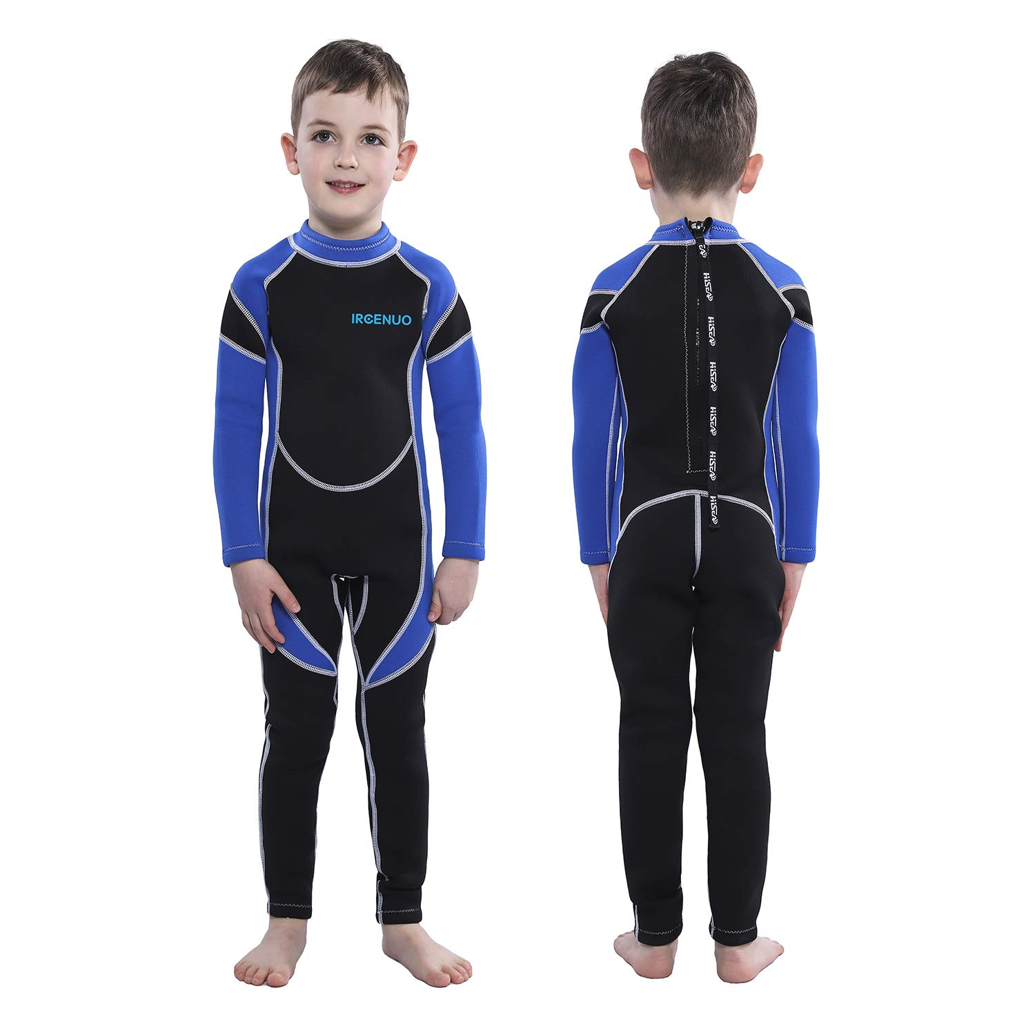 IREENUO Kids Wetsuit Neoprene 2.5mm Thick Long Sleeve One Piece UV Protection Sun Protection Sunsuit Wetsuit for Girls Boys by IREENUO