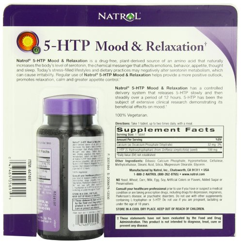 Natrol 5-HTP Mood Enhancer, 100mg, 150 Tablets by Natrol: Amazon.es: Salud y cuidado personal