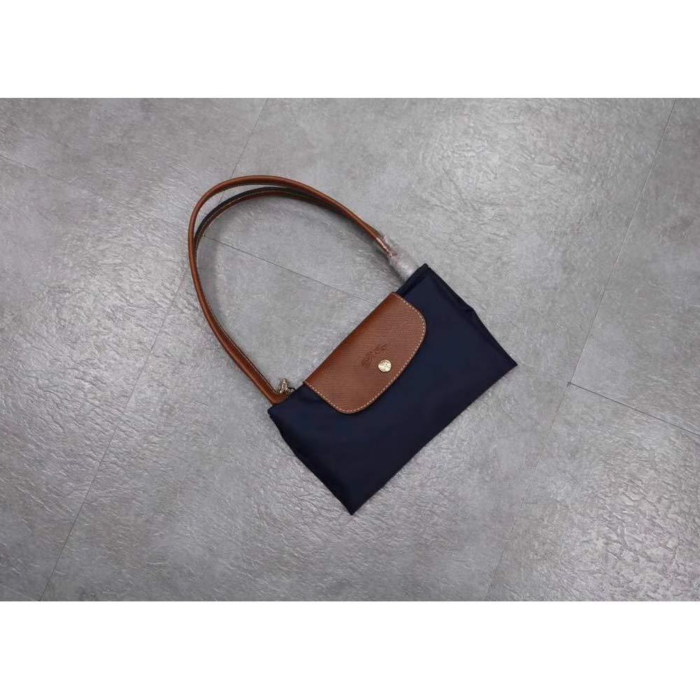 DeLamode Femmes Long Champ Handbags Grande capacit/é /à bandouli/ère en Cuir Sac en Toile Pliable Big-001