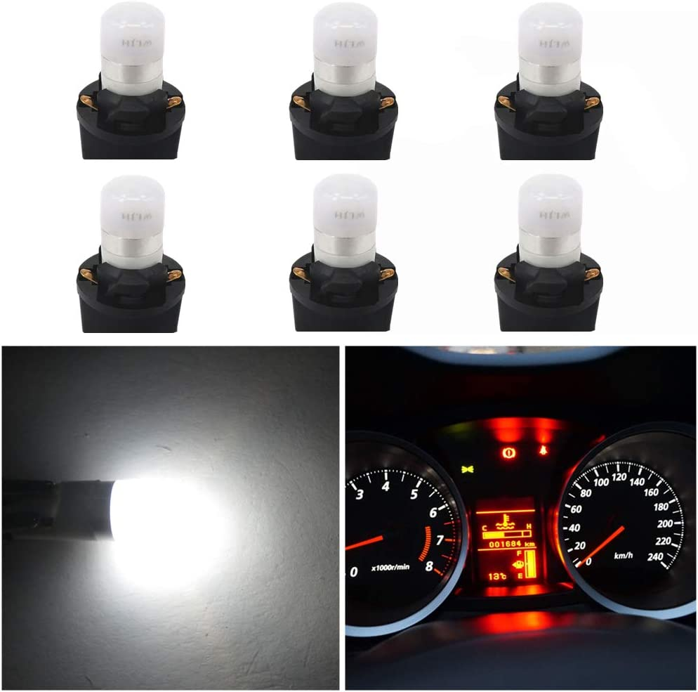 4pcs T10 LED Light Bulb Instrument Panel Gauge Cluster Dashboard Lights Blue