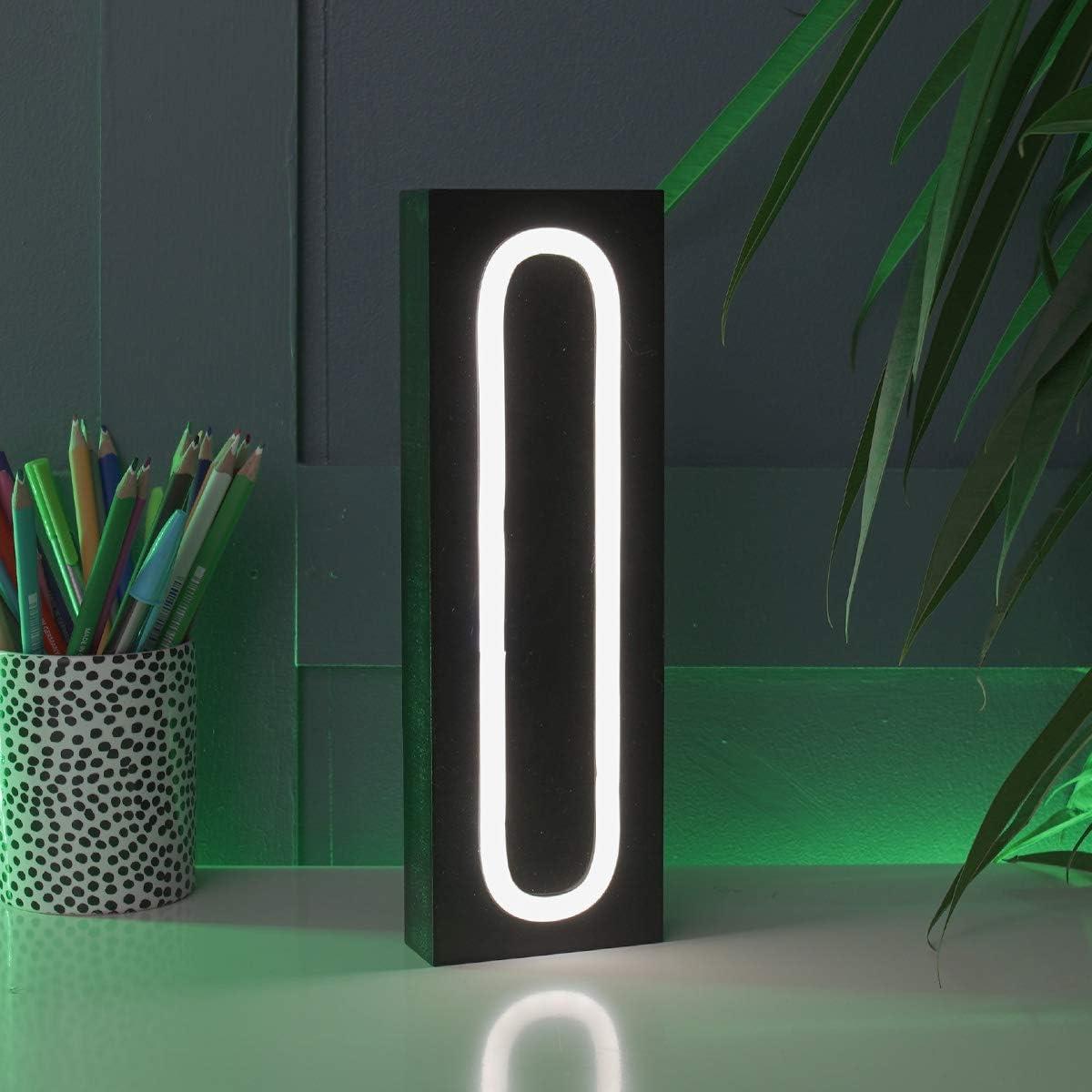 Timer-Funktion Neon-Effekt LED batteriebetrieben Festive Lights BL112 beleuchtete Holzbuchstaben S