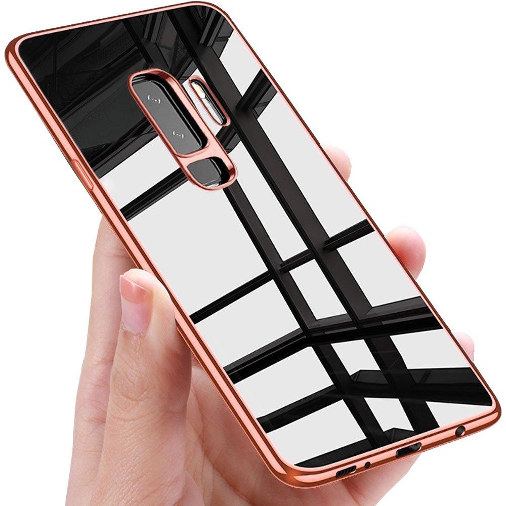 Samione Galaxy S9 Plus Handyh/ülle Rose Gold Kratzfeste S9 Plus H/ülle Silikon Schutzh/ülle Ultrad/ünn Slim TPU Bumper Case Anti-Rutsch Backcover Tasche H/ülle f/ür Samsung Galaxy S9 Plus Case Cover