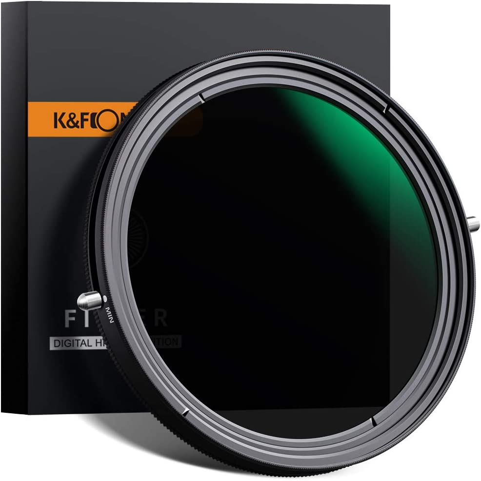 K&F Concept 58mm Variable Fader ND2-ND32 ND Filter and CPL Circular Polarizing Filter 2 in 1 for Camera Lens No X Spot Weather Sealed