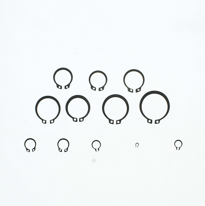 External Snap Ring Set C Clips Assortment Retaining Clip Circlip Assortment Metric Snap Ring Kit ABN/® 300-Piece