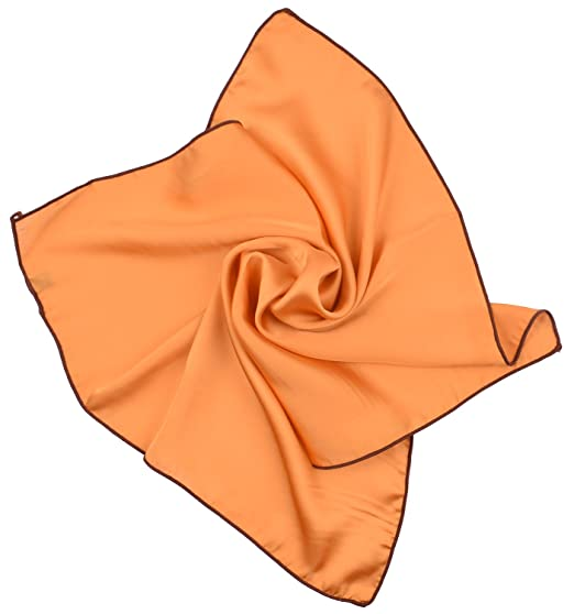 be0addb71 Orange Neck Scarf Solid Color Bandanas Head Hair Scarfs Neckerchief for  Women at Amazon Women's Clothing store:
