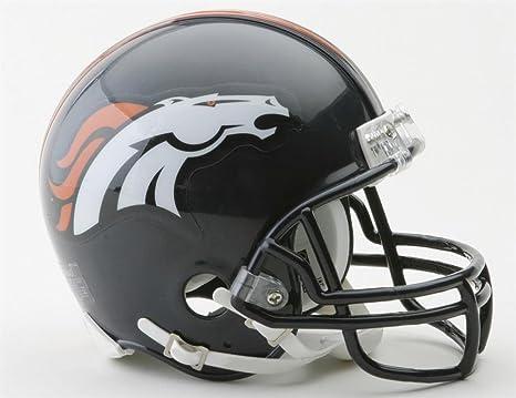 Balón de fútbol americano NFL Riddell Mini-casco Denver Broncos ...
