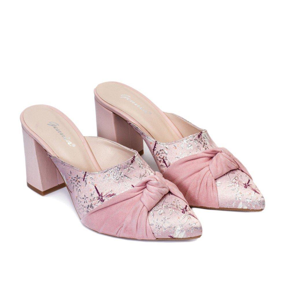 Gennia Palo Textil Y Tacón Sandalias Rosa Para De Marie Con Mujer 7gYfby6