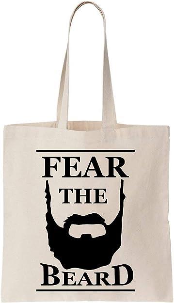 Fear the Beard Black Logo Algodón Bag Tote Bag: Amazon.es: Zapatos ...