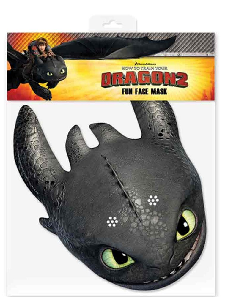 Dragons - Drachenzähmen leicht gemacht 2, How to train your Dragon 2 - Toothless Ohnezahn - Maske Papp Maske, aus hochwertigem Glanzkarton mit Augenlö empireposter