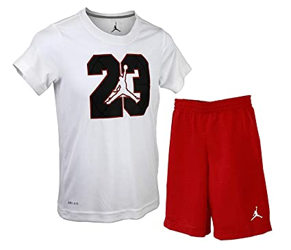 86a421354a9eda Image Unavailable. Image not available for. Color  Nike Boys Jordan Two  Piece Jumpman 23 Dri-Fit Short ...