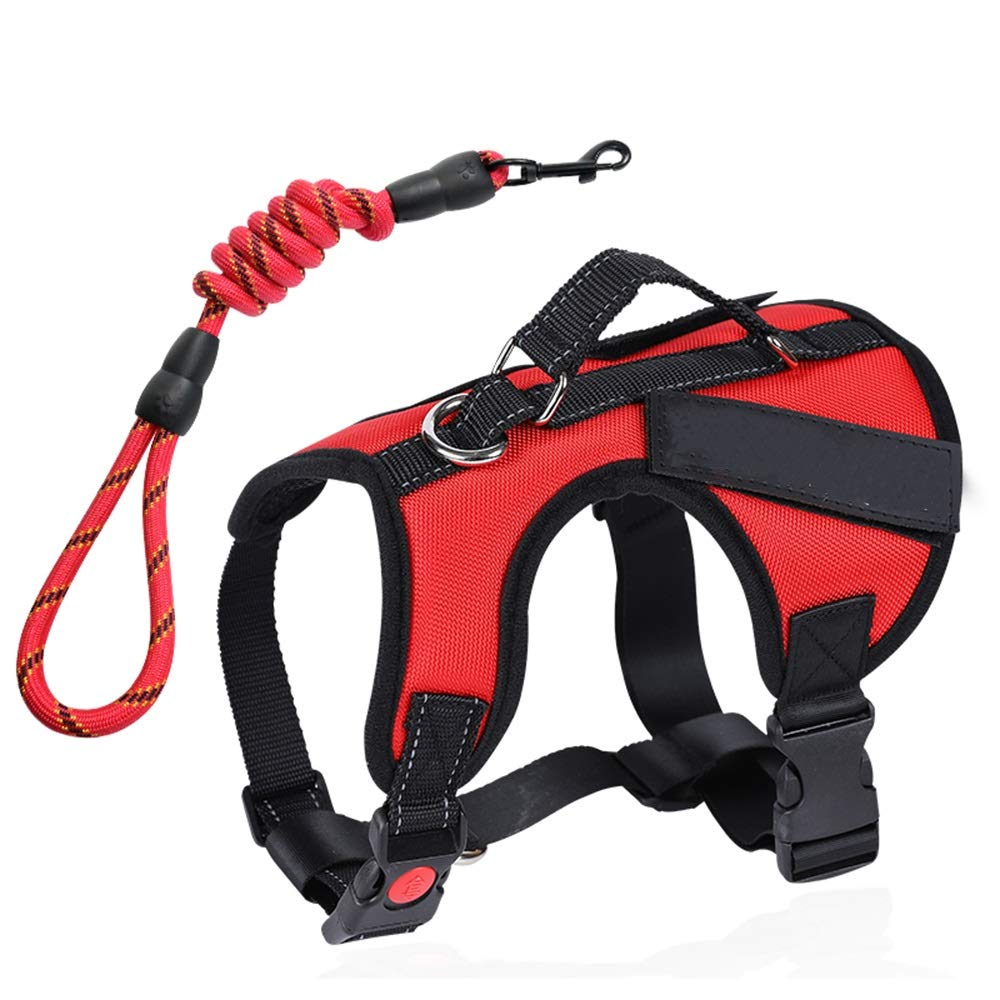 1002-M Dog Leash, Night Reflective Chest Strap Pet Vest Style Hyena Chain Large Dog Leash Thick Ribbon (color   1002-M)