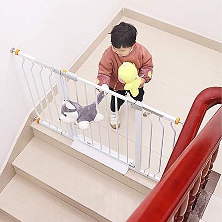 LOVE_BABY Lovebaby Puertas for bebés Puertas for bebés Extra Anchas for escaleras, Soportes de presión Puerta de Metal for Perros con Puerta for Mascotas pequeñas, 111-118 cm de Ancho, Blanco: Amazon.es: Hogar