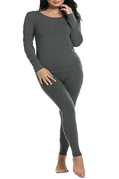 5b954213da2 sicily Women s Plus Size Thermal Underwear Set Sets 2 Pcs Underwear Top    Bottom Pajama XL-5XL (Grey