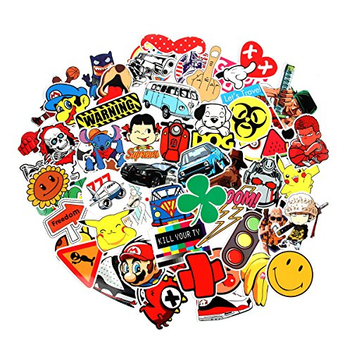 8 Series Stickers 100 pcs/pack Stickers Variety Vinyl Car Sticker Motorcycle Bicycle Luggage Decal Graffiti Patches Skateboard Stickers for Laptop Stickers For Kid And Adult (Series (Series Snowboard)