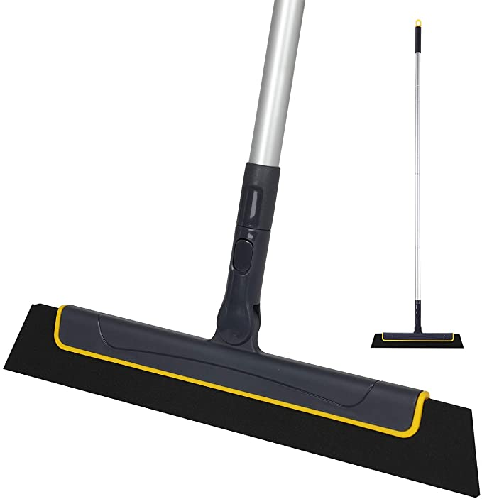 Amazon.com: Yocada Floor Squeegee 51in Broom Perfect for Shower Bathroom Kitchen Home Tile Pet Hair Fur Floor Marble Glass Window Water Foam Cleaning Long Adjustable Removable Handle Anti-Static Household: Health & Personal Care