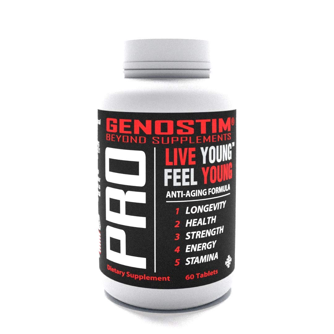 GENOSTIM PRO - Anti-Aging Protein Peptide Supplement - Stimulates Hormonal Balance for Accelerated Healing and Cellular Rejuvenation