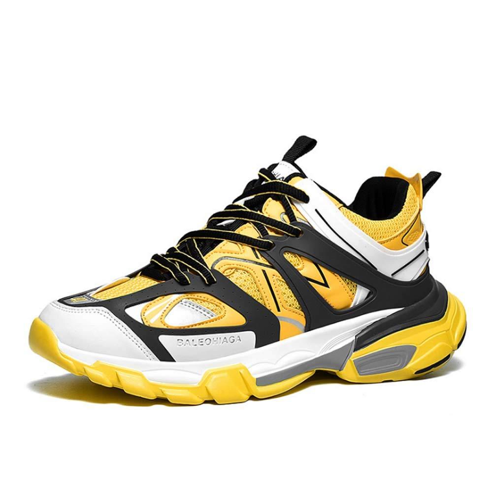 Yellow GHFJDO Men Sneaker Running shoes Sport Outdoors Running shoes Running Mountain shoes Gym Running Comfortable Travel shoes Women
