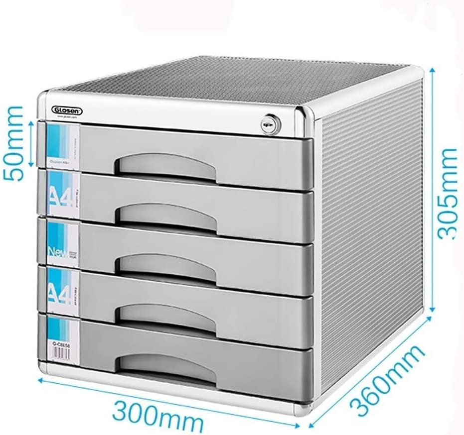 File cabinet File Cabinet Aluminum Alloyfile Cabinets Multifunction Office File Confidentiality Large Storage Space Management Aluminum Alloy Office Supplies 30X36X30.5CM