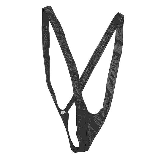 d423024af4 Amazon.com: fantastic_008 Fan008 Men Sexy Mankini Jockstrap Swimsuit  Swimwear Thong Bodysuit Underwear (Black): Clothing