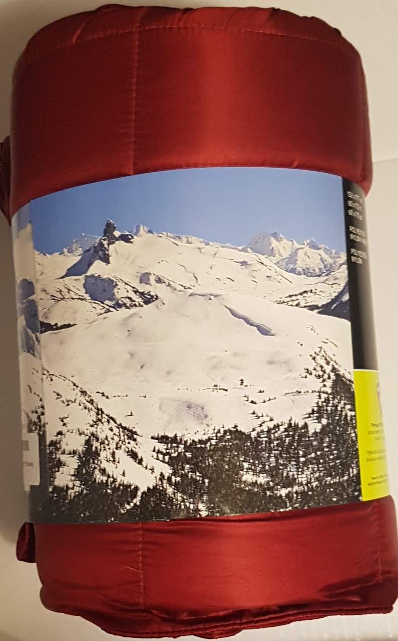 Eddie Bauer Packable Down Travel Throw 700 Fill Power Burgundy 60 x 70