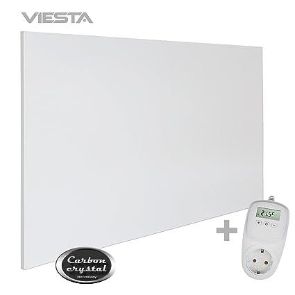 VIESTA H900 Panel Radiador de Infrarrojos Carbon Crystal (última tecnología) Calefacción ultradelgado Blanco de
