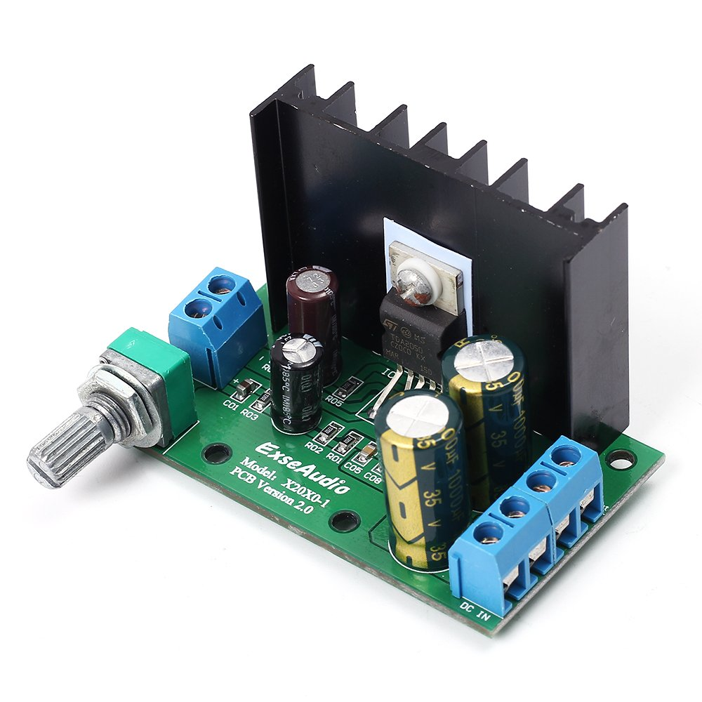 Icstation Tda2050 25w Mini Mono Digital Audio Amplifier Figure 1 Typical Hifi Schematic Power Amp Board With Volume Adjustable Knob
