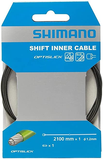 New Shimano Optislick Stainless Steel Shift Inner Cable Derailleur 1.2 x 2100mm