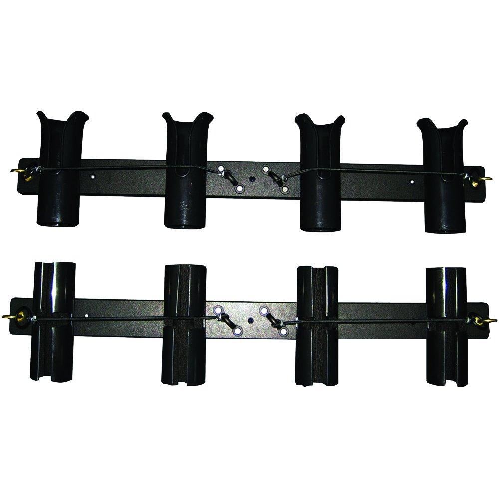 Taco Metals Poly 4-Rod/Reel Roof Rack (Black) by Taco Metals