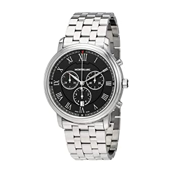 fe601452179 Amazon.com: Montblanc Tradition Chronograph Black Dial Mens Watch ...