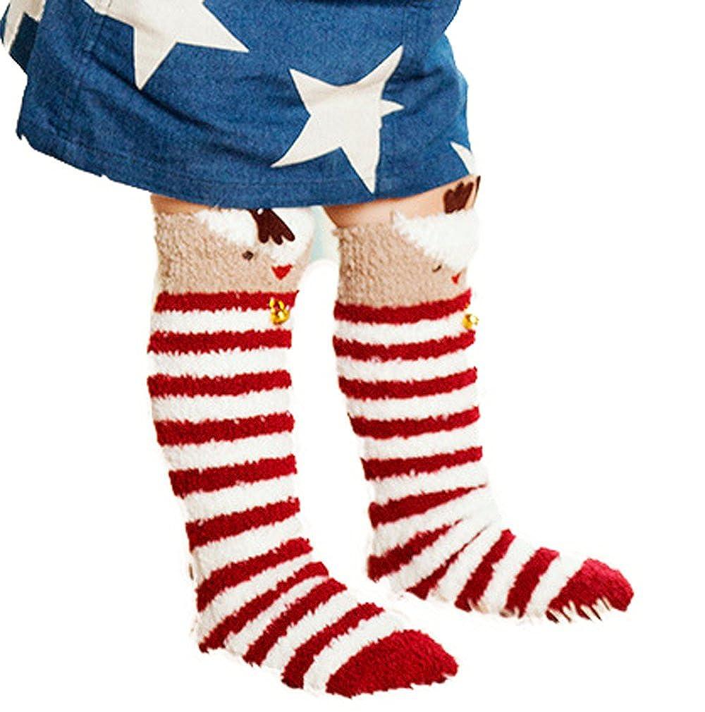 Bigood Baby Kids Cartoon Animal Soft Warm Coral Fleece Knee Thigh Sock 0-3 Years 6FWZ030C*1