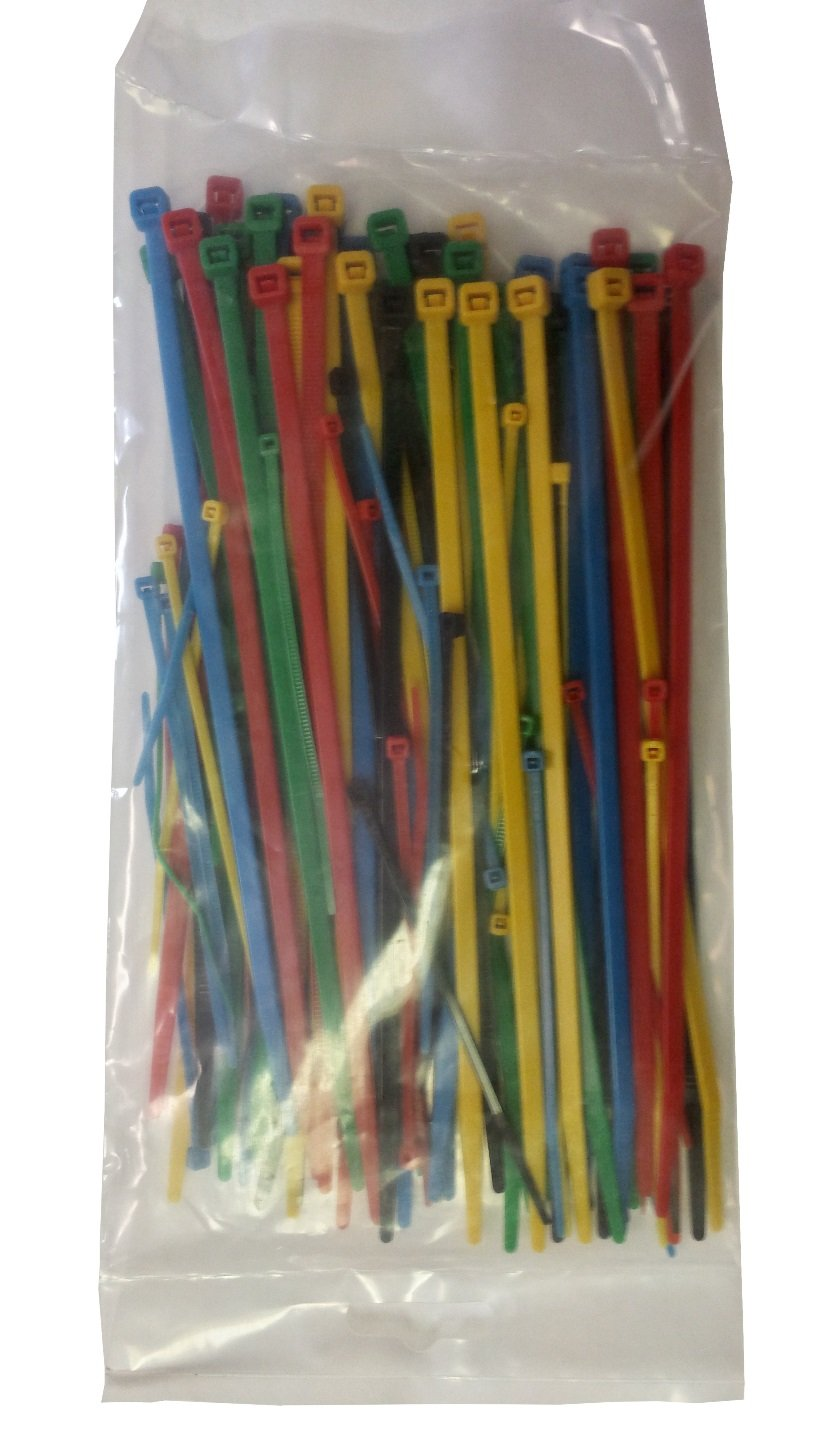 3cd64f46fb2b Multi-Color Cable Ties 4 and 8 Mixed /(100 Pack/)-Green, Blue, Reg ...