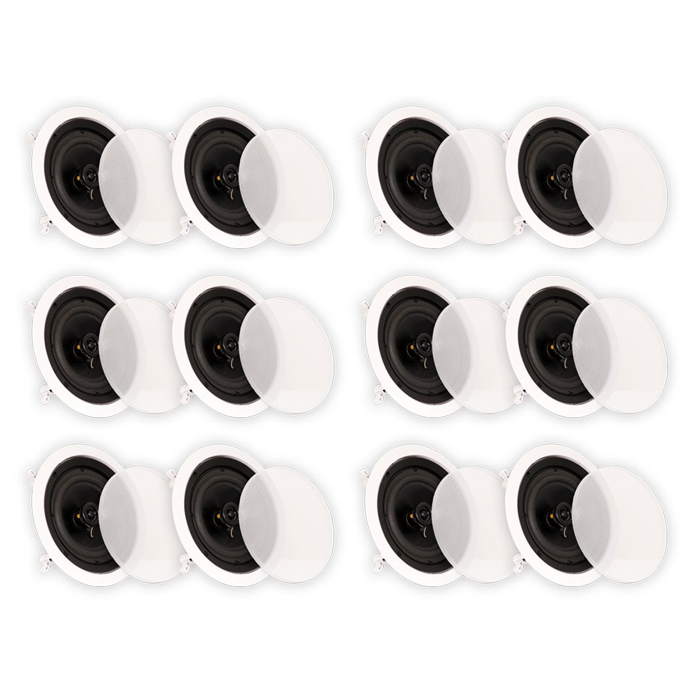 Theater Solutions CS6C In Ceiling 6.5'' Speakers Surround Sound Home Theater 6 Pair Pack 6CS6C by Theater Solutions