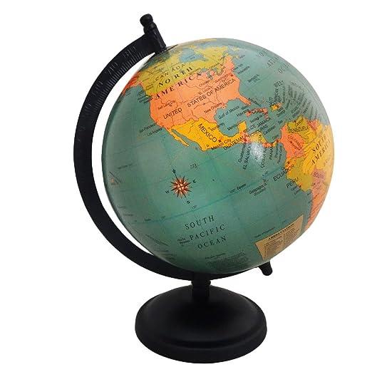 Indian Antiken Globus Tischplatte Handgemachte Weltkarte Dekorative 6 QuotKunststoff Eisen Stehend Wohnkultur Vintage