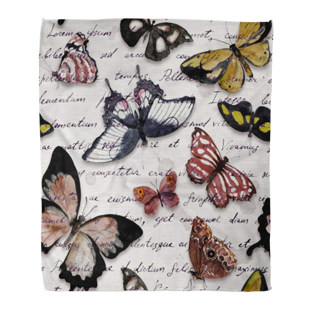 Multi 16 50  W x 60  L Emvency Throw Blanket Warm Cozy Print Flannel Dance Ballerina Dancing Watercolor Ballet Dancer Comfortable Soft for Bed Sofa and Couch 60x80 Inches