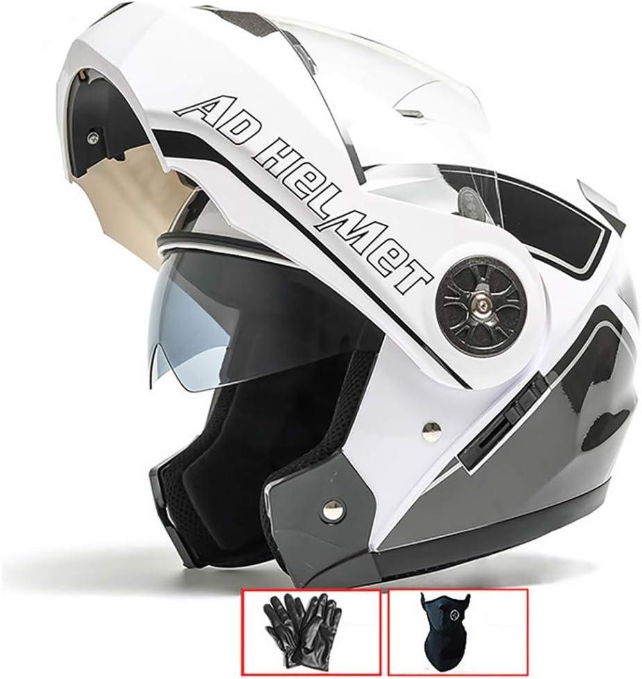 54-60cm Doble Visera ECE Certificado para Hombres y Mujeres LALEO Ajustable Personalidad Grafiti Casco Moto Modular Integral Casco Moto Abierto