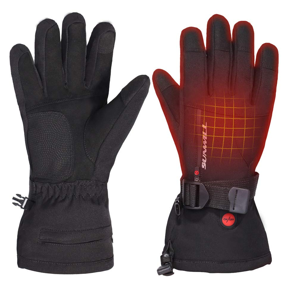 Heated Gloves for Men Women,Rechargeable Electric BatteryWater-Resistant Thermal Heat Gloves for Winter Outdoor Skiing Snowboarding Biking Hunting Hand Warmer by Sun Will