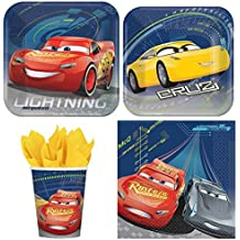 Disney Cars Mc Queen Value Pack Birthday Party for 8 guests ( Plates, Cups, Napkins)