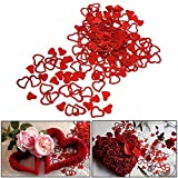 Heart Confetti 90 gram Pack - 1/2 Inch Red Mini Decorative Confetti Hearts for Children's Birthday Parties | Weddings | Valentine's Day | Arts and Crafts