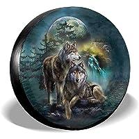 Wolf-3D Gedrukte Wolf Reservewiel Cover Waterdicht Stofdicht UV Sun Wheel Tyre Cover