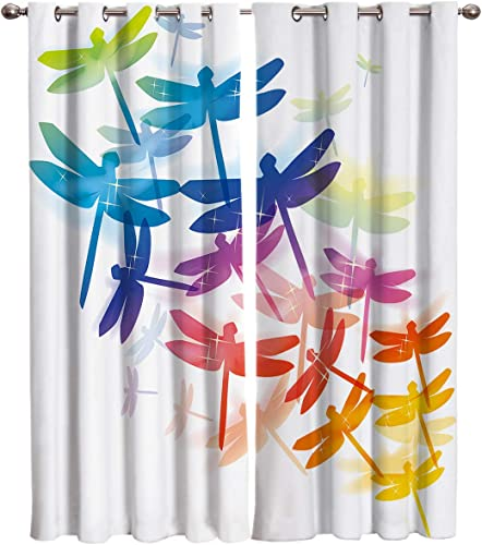 Dragonfly Kitchen Blackout Curtains Window Drapes Treatment