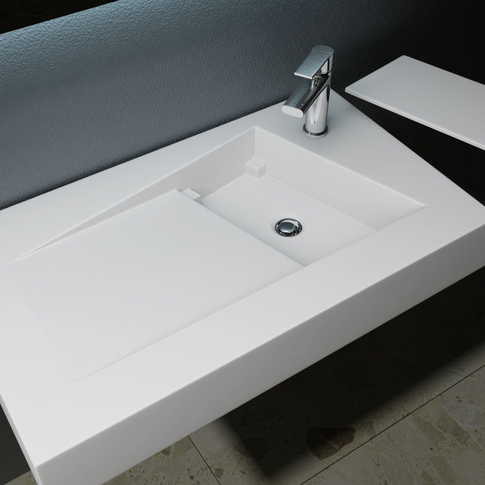 Mai /& Mai Design Lavandino 80x46x12 cm Lavabo Colossum17 da Marmo Fuso da Appoggio