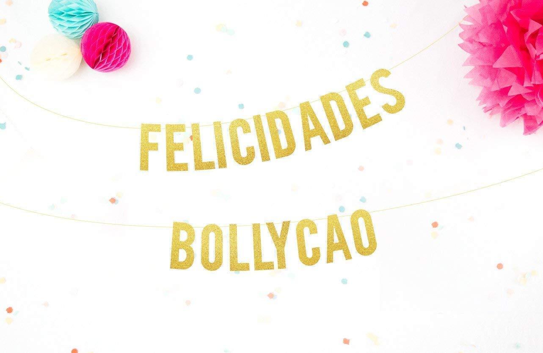 Guirnalda Purpurina Dorada Fiesta de Cumpleaños Cartel Feliz ...