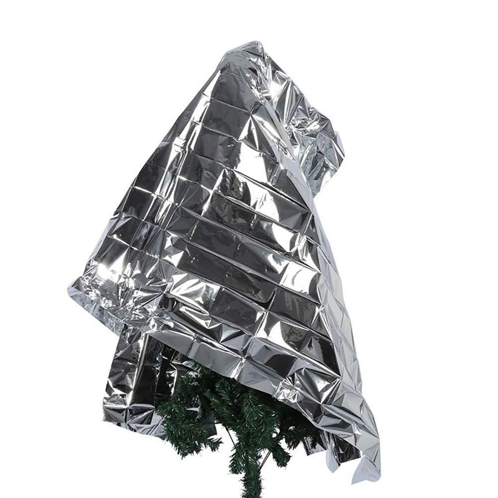 Yamalans Foldable Plant PETP Reflective Film Garden Greenhouse Cover Accessories Silver 210cm x 120cm