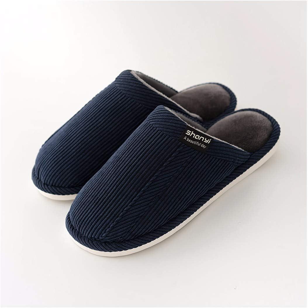 OMFGOD Slippers Femmes Hommes Coton Chaussons Hiver Home Int/érieur Chaud Non-Slip Soft /Étage Silencieux Confortable Chaussures Amoureux