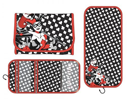 Harley Quinn Character Card Design Hanging Cosmetic Travel Foldable Bag