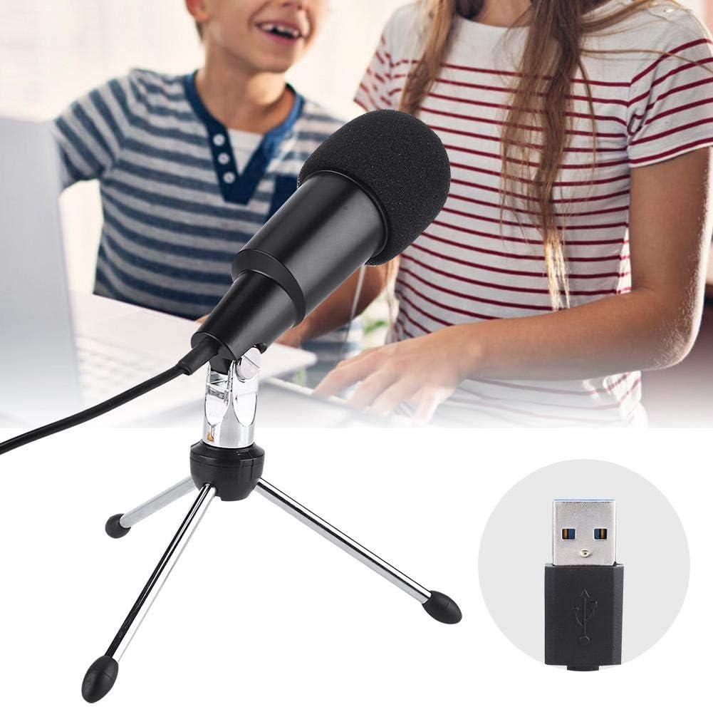 REFURBISHHOUSE Microfono PC Plug e Play Microfono Omnidirezionale Home Studio da 3,5 Mm Adatto per Desktop//Laptop//Computer//Notebook//Youtube//Podcast//Gioco//Chat