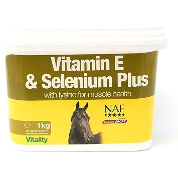 NAF - Suplemento de vitaminas y minerales para caballos (vitamina E, selenio y lisina, 3 kg): Amazon.es: Productos para mascotas