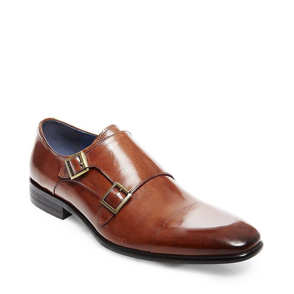 Steve Madden Men's Bowen Chelsea Boot, Cognac Leather, 10 M US