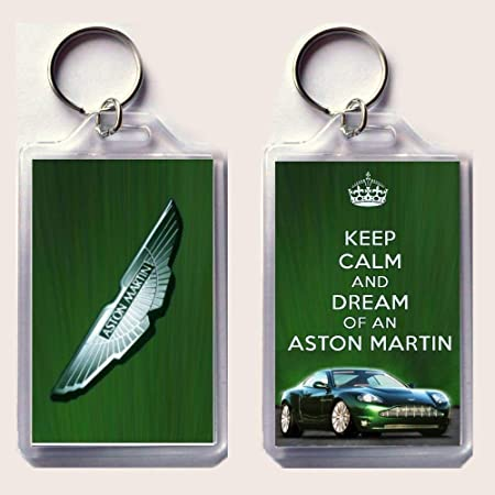 KEEP CALM and DREAM OF AN ASTON MARTIN Keyring Unique Christmas gift