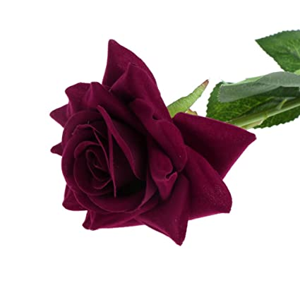 Amazon Com Yeahii Single Stem Artificial Flower Fake Silk Rose